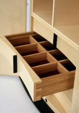 Jewellery cabinet with drawers