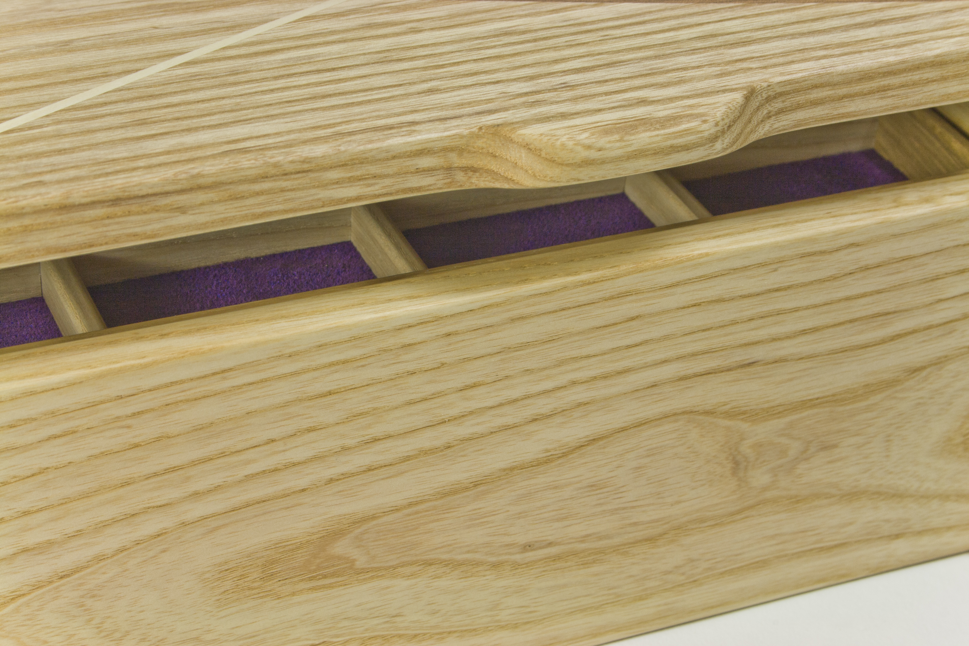 Close up of jewellery box lid handle