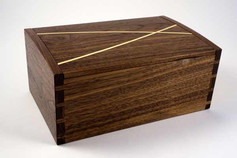 Walnut 'winding paths' jewellery box