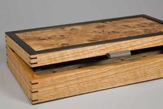 Poplar burr cufflink box