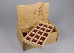 Jewellery box with storage tray