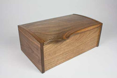 English walnut jewellery box