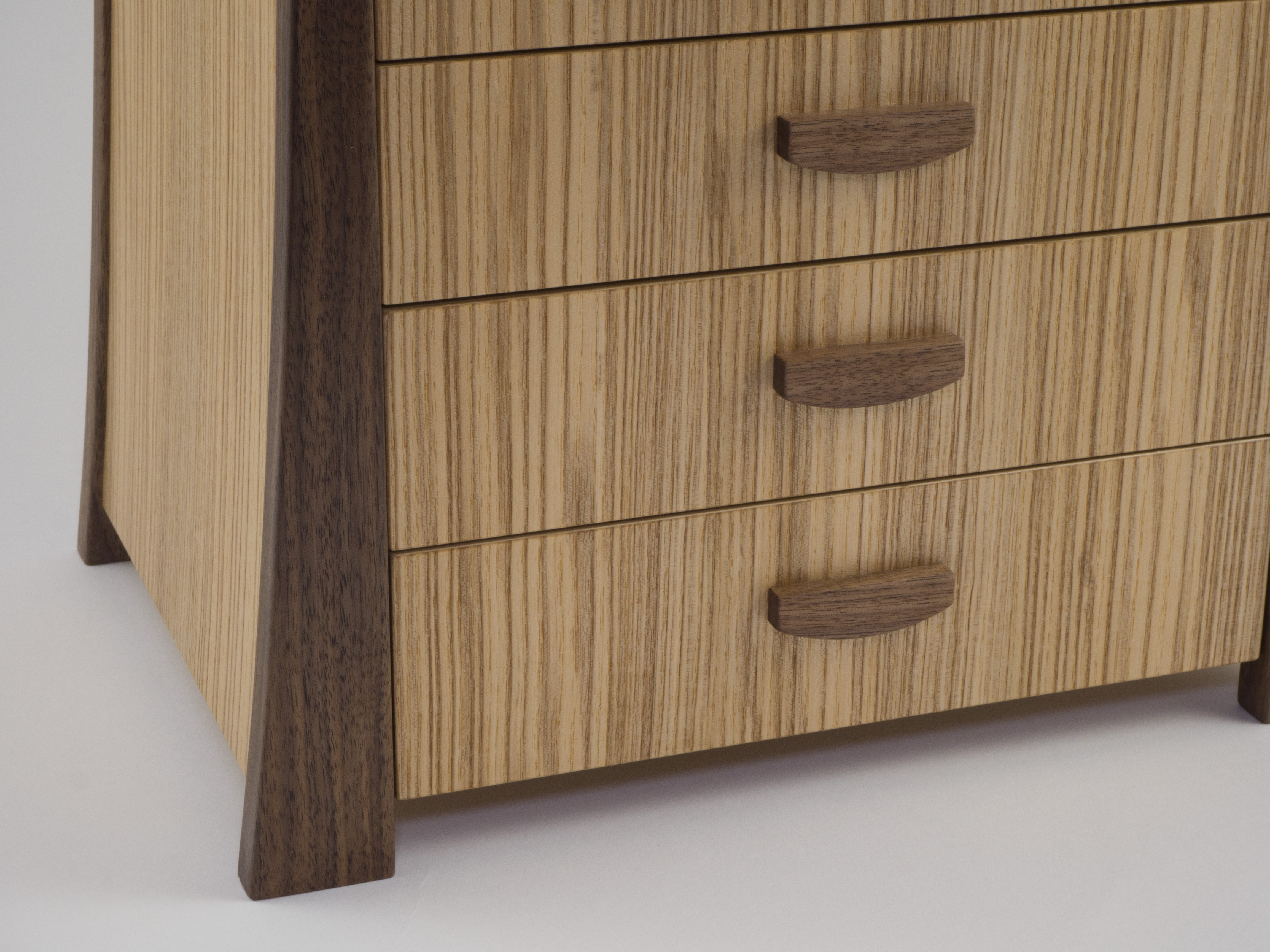 Olive ash chest of drawers