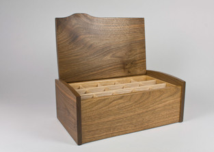 Open jewellery box and tray