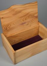 Yew jewellery storage box