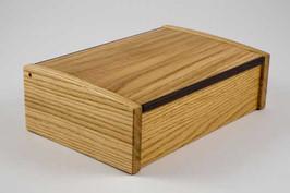 Small oak curved lid jewellery box