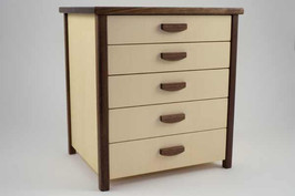 Sycamore jewellery chest of drawers