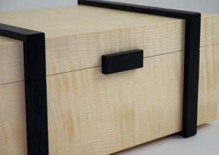 Bog oak and sycamore jewellery box