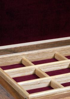 Bespoke fine jewellery box with trays