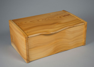 Curved lid wooden jewellery box