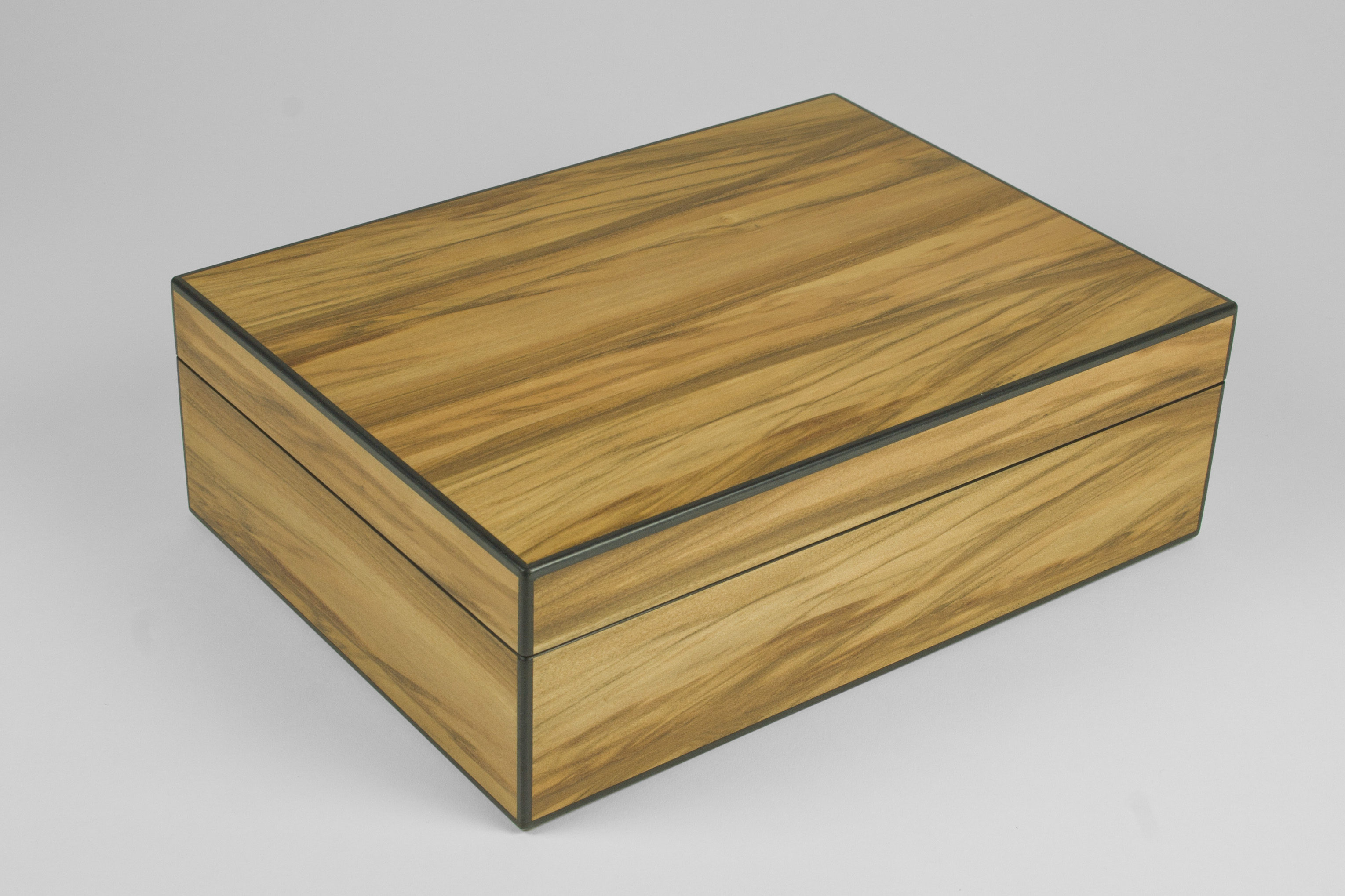 Satin walnut jewellery box