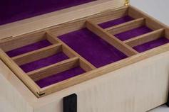Sycamore and bog oak jewellery box