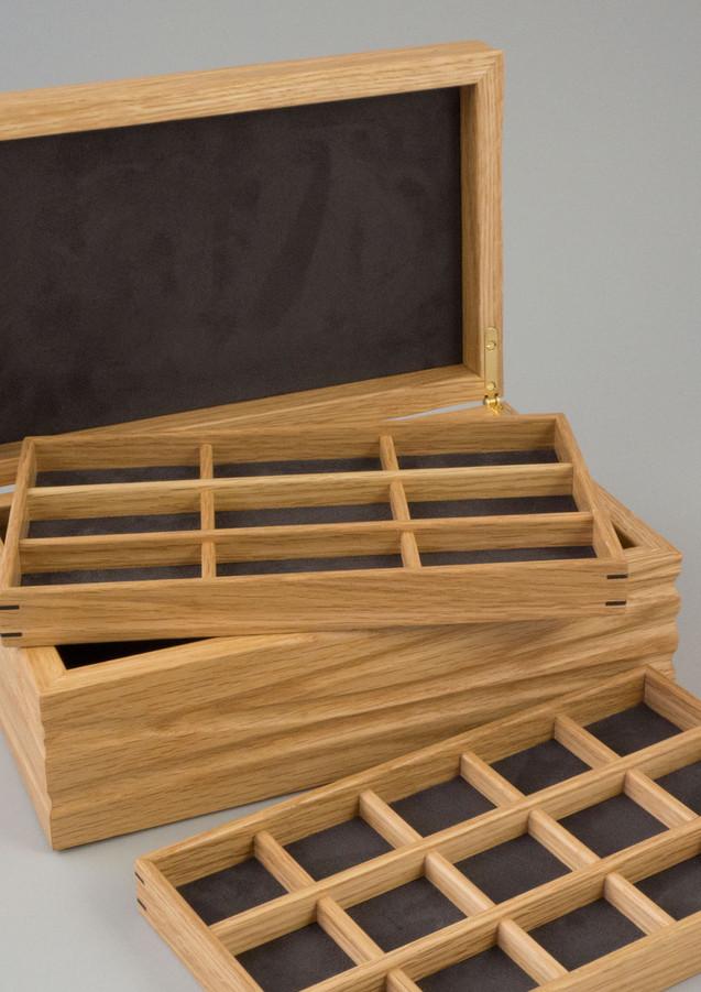 Wooden jewellery storage trays