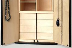 Sycamore jewellery cabinet