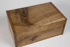English walnut curved lid jewellery box