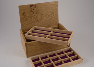Two trays in the jewellery box