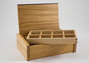 curved lid oak jewellery box