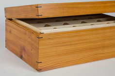 English yew jewellery box