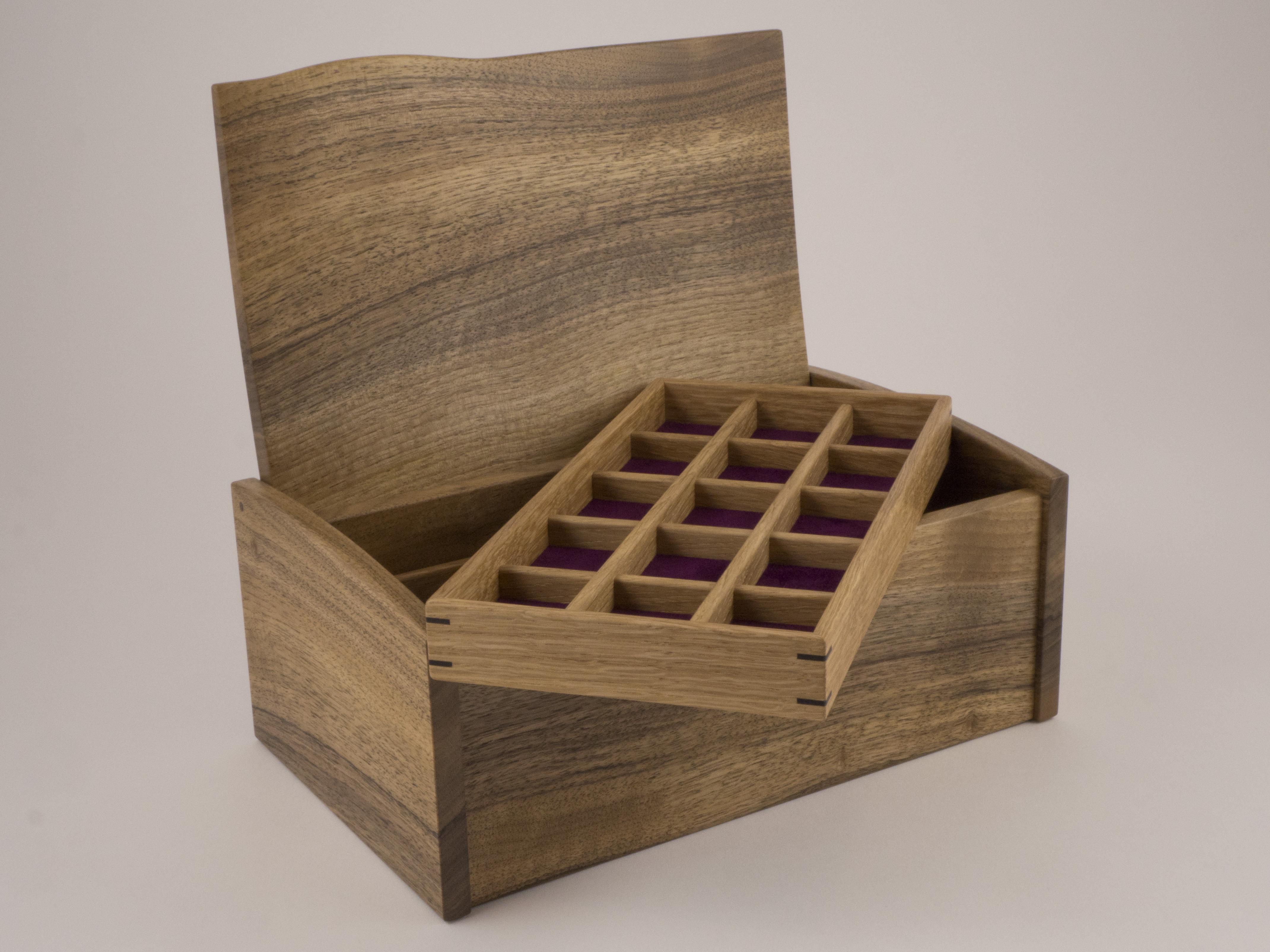 English walnut jewelley box