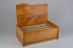 Yew curved lid jewellery box