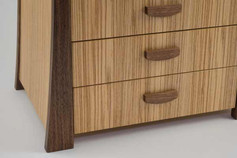 Olive ash jewellery chest of drawers
