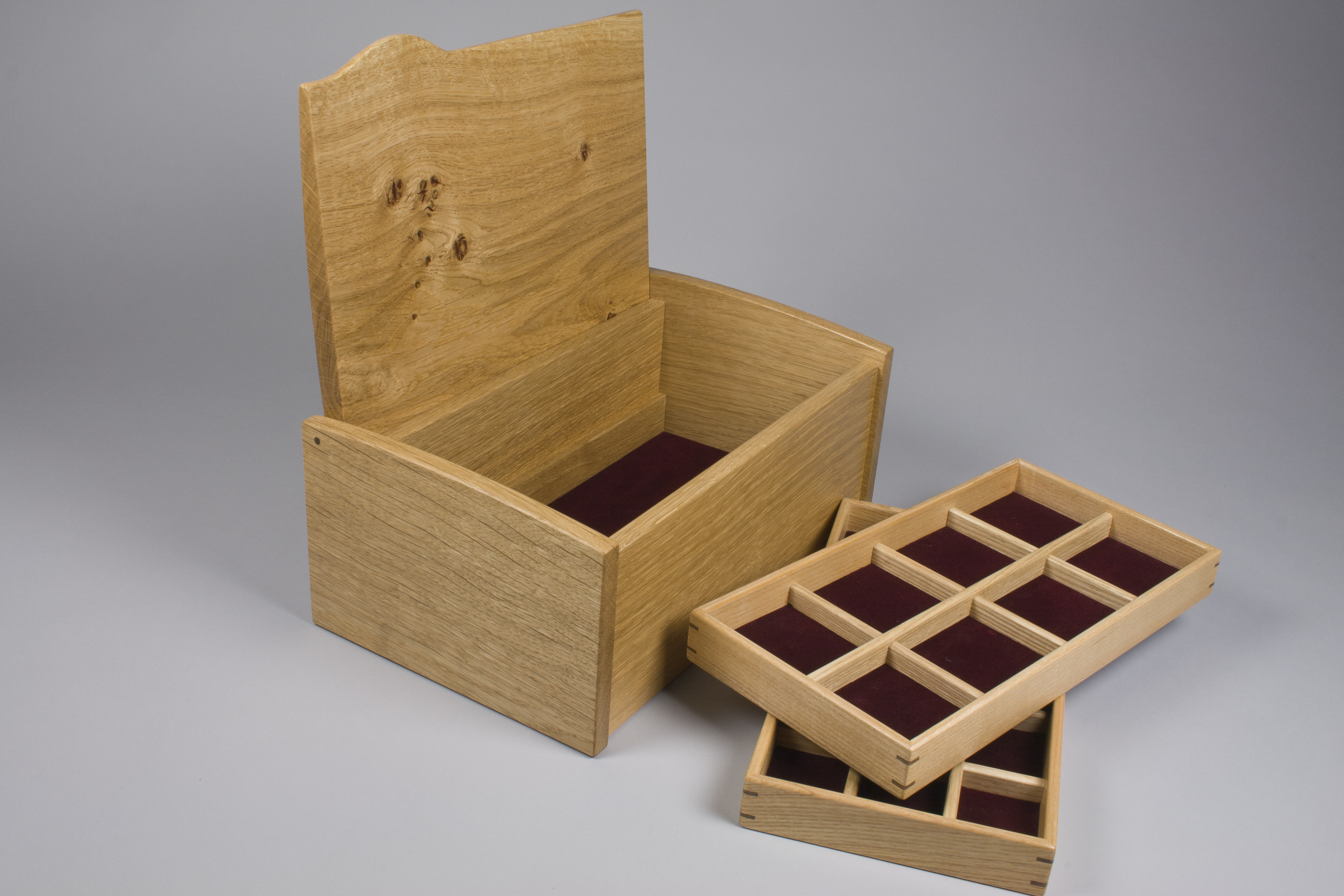 The jewellery box and trays