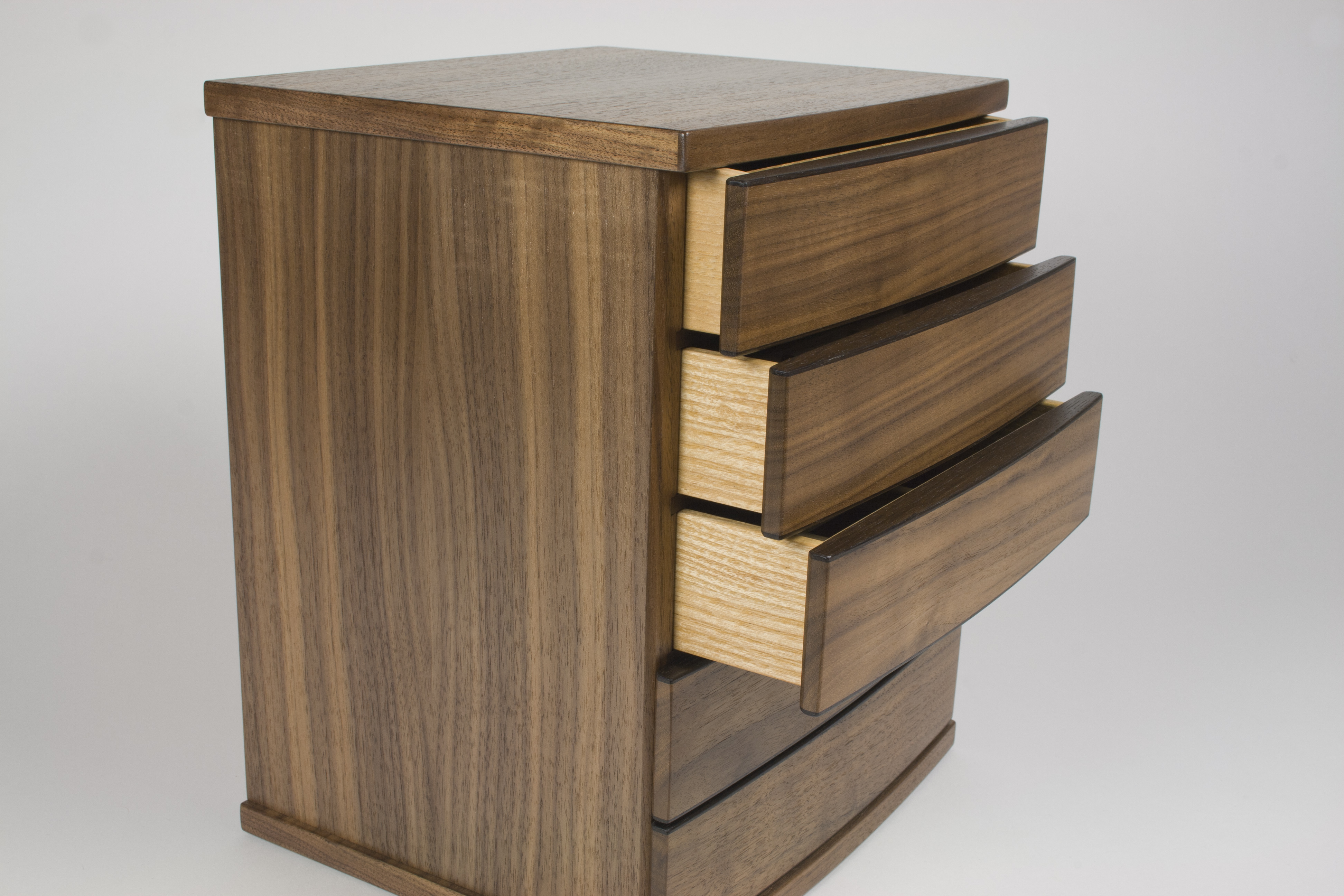 Three drawers of a jewellery chest