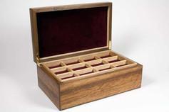 Brown oak jewellery box