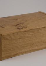 English oak jewellery box