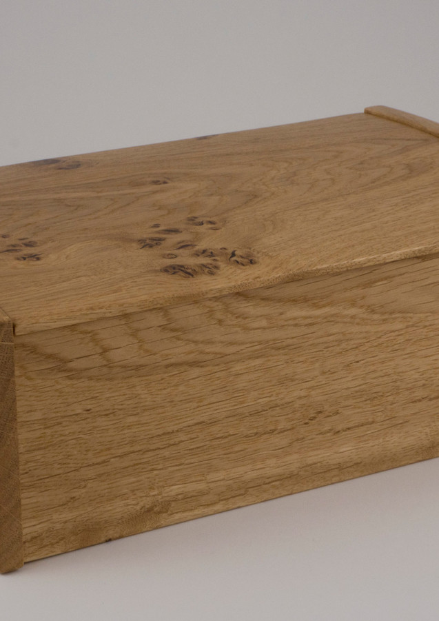 English oak jewellery box