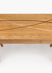 Hall table made from oak