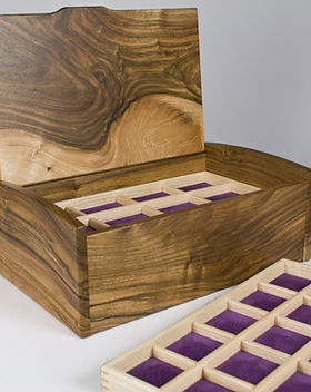 Handcrafted jewellery box made from English walnut wood