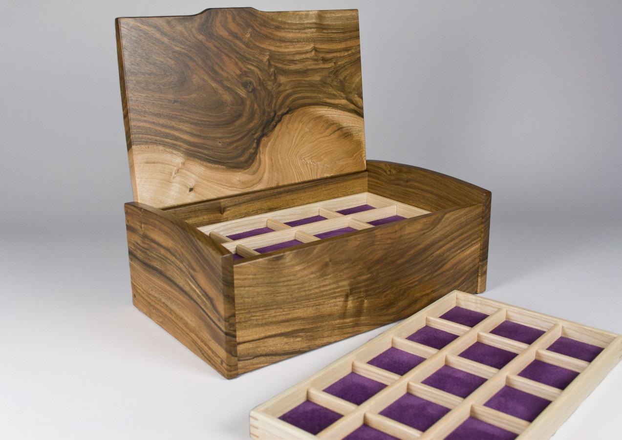Jewellery box with trays