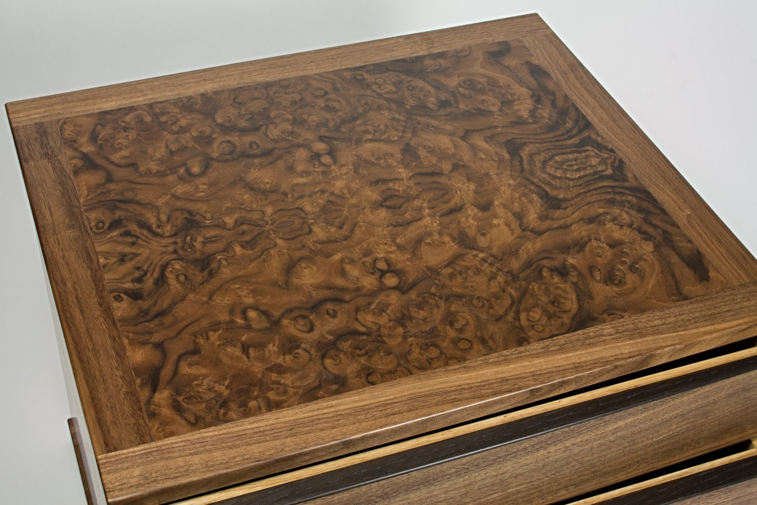 Close up of walnut burr