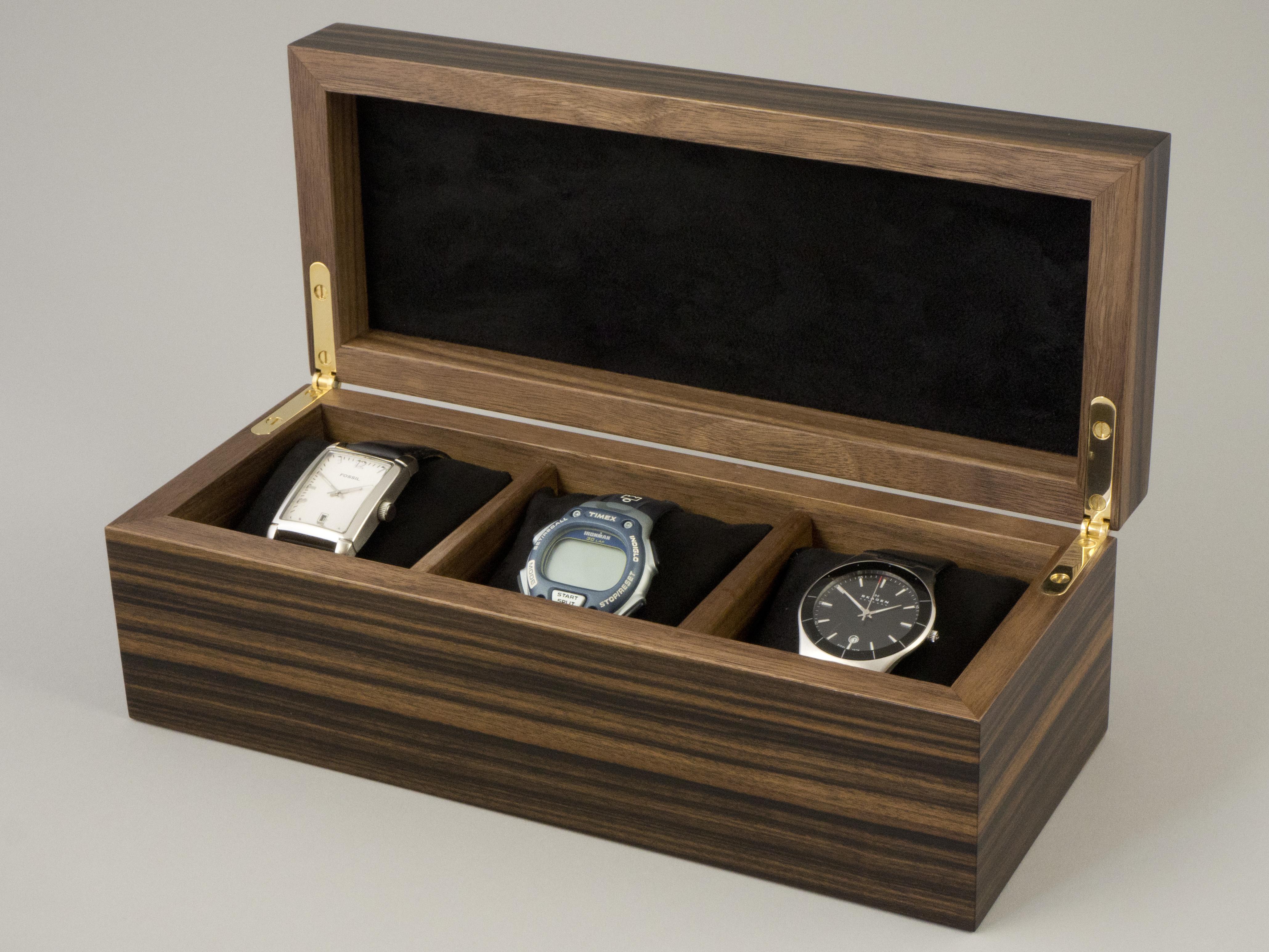 Inside watch box