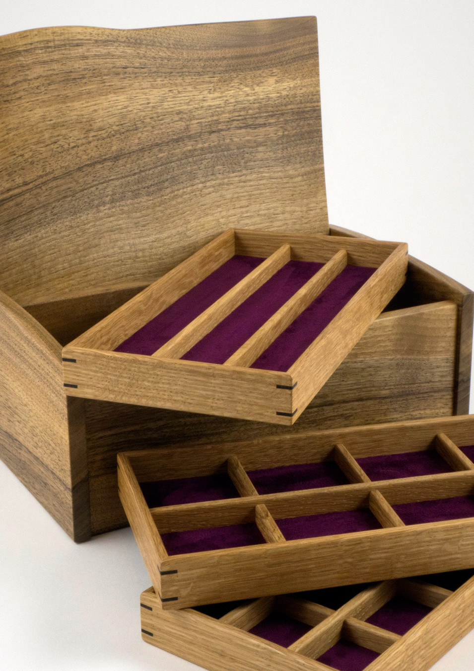 Three lift out jewellery trays
