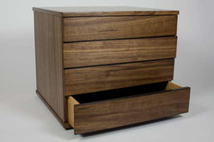American walnut 'Left-right' chest of drawers