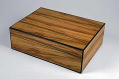 Satin walnut jewellery box