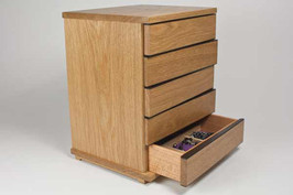 'Left-right' jewellery chest of drawers