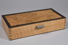 Oak burr cufflink box