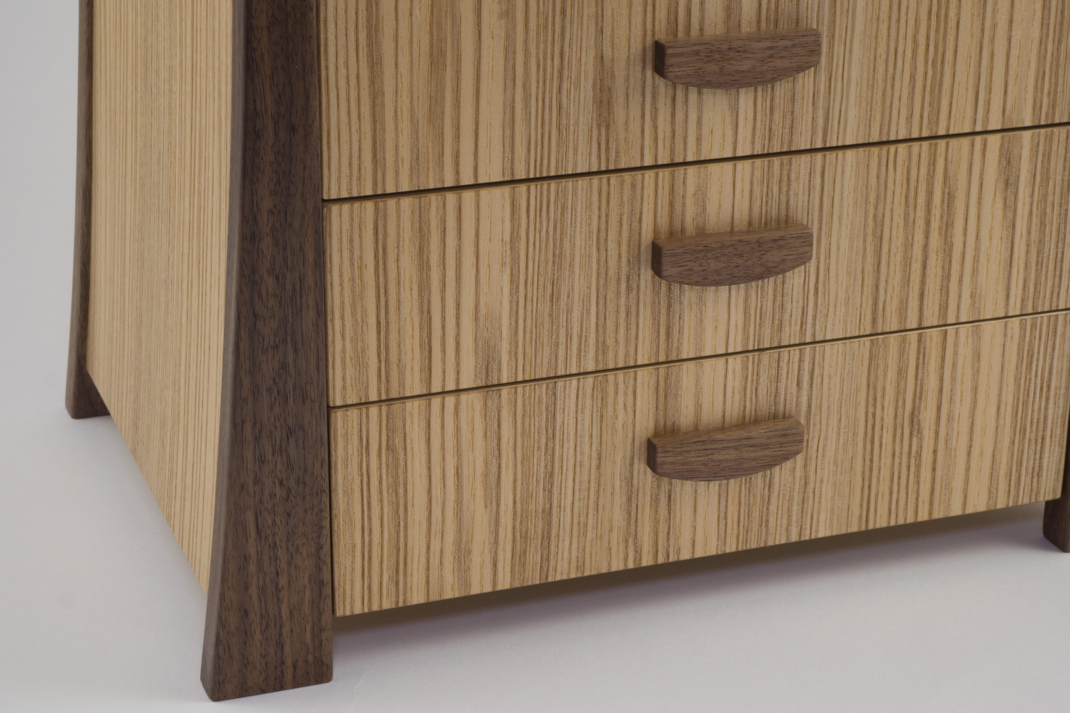 Olive ash jewellery chest