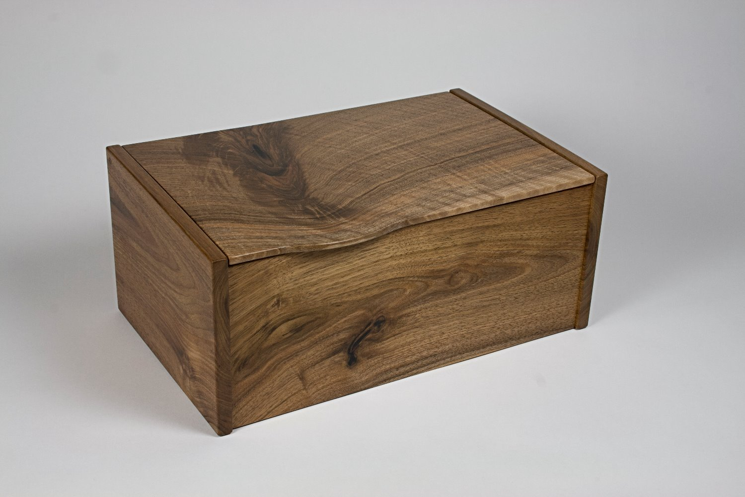 English walnut jewellery box