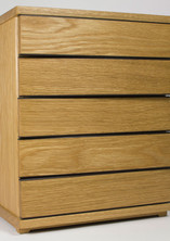 Oak jewellery chest of drawers