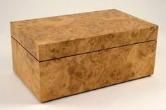 Oak burr jewellery box