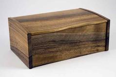 Curved lid English walnut jewellery box