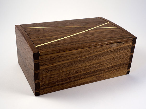 Dovetailed jewellery box made from American black walnut