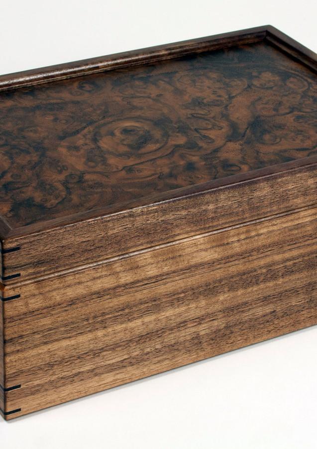 Jewellery box made from walnut