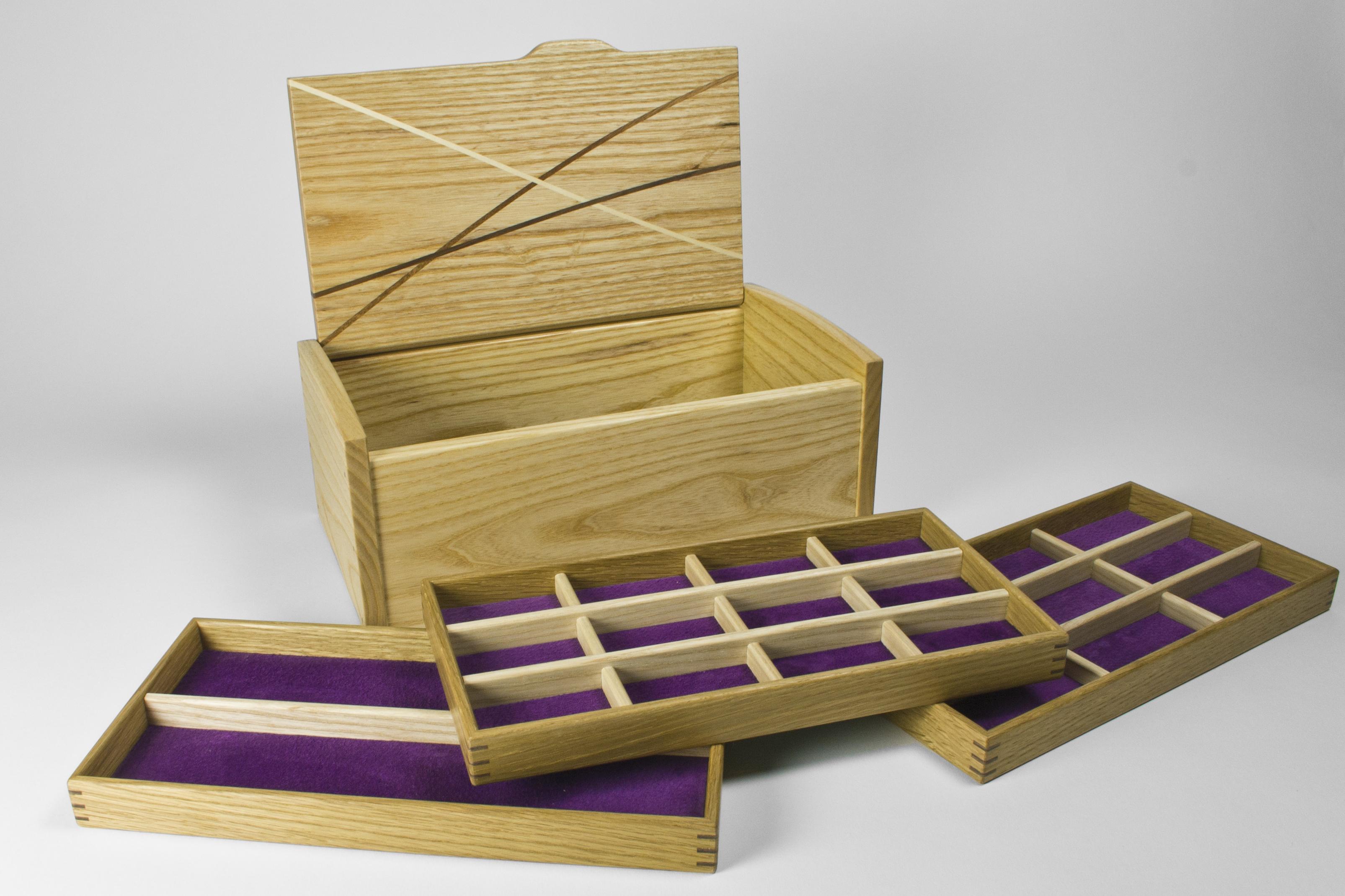 Jewellery box and storage trays