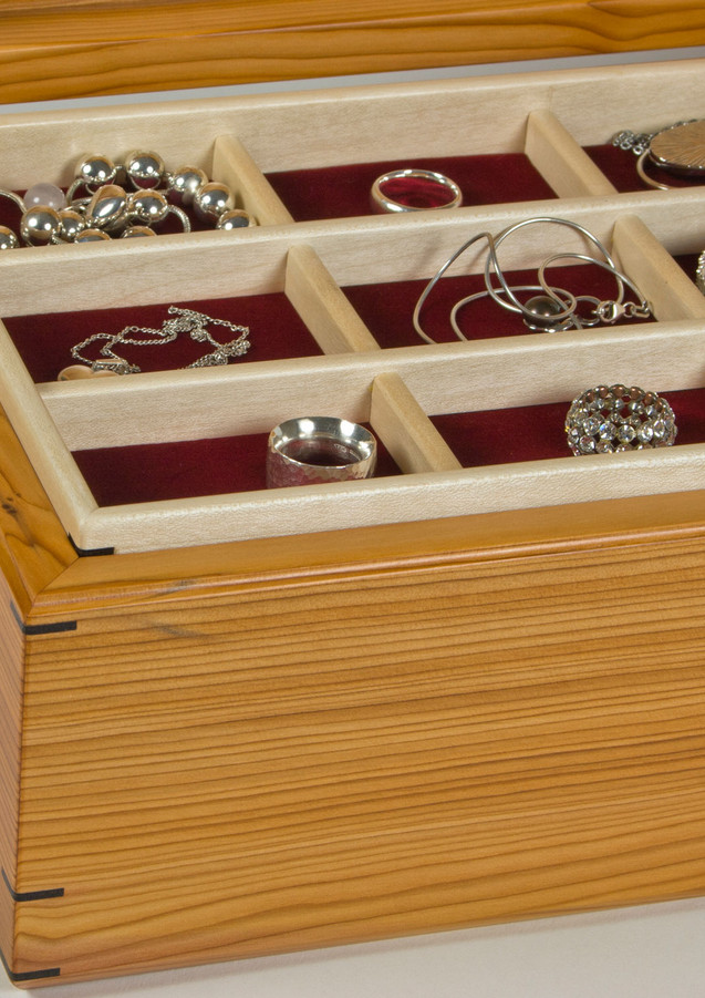 Jewellery storage trays with compartments