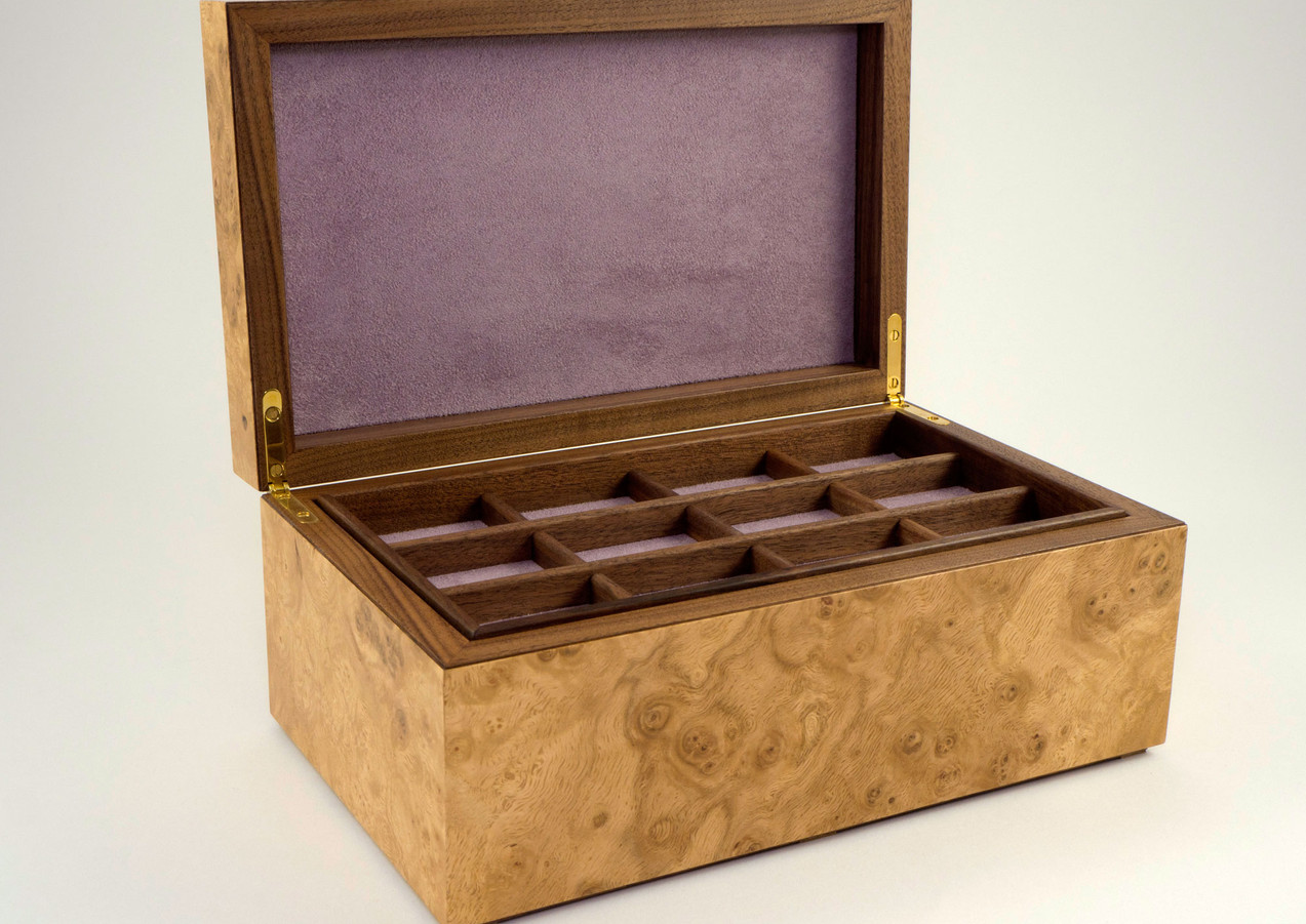 Jewellery box with trays